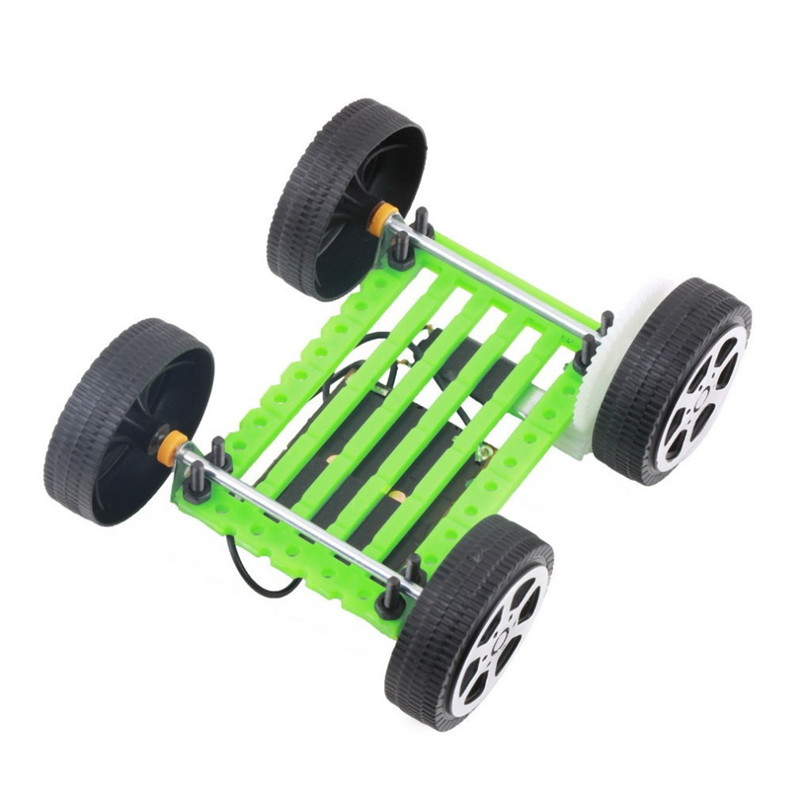 Children corretly Educational solar toy car assemble solar vehicle yourself mini solar energy powdered toy racer solar car kit(China (Mainland))