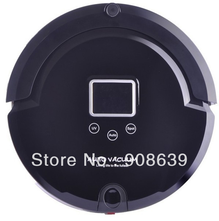 Free Shipping Auto Vacuum Cleaner Robot With Longest Working Time/Moping/Auto Recharged /UV/Lowest Noise/Remote Controller(China (Mainland))