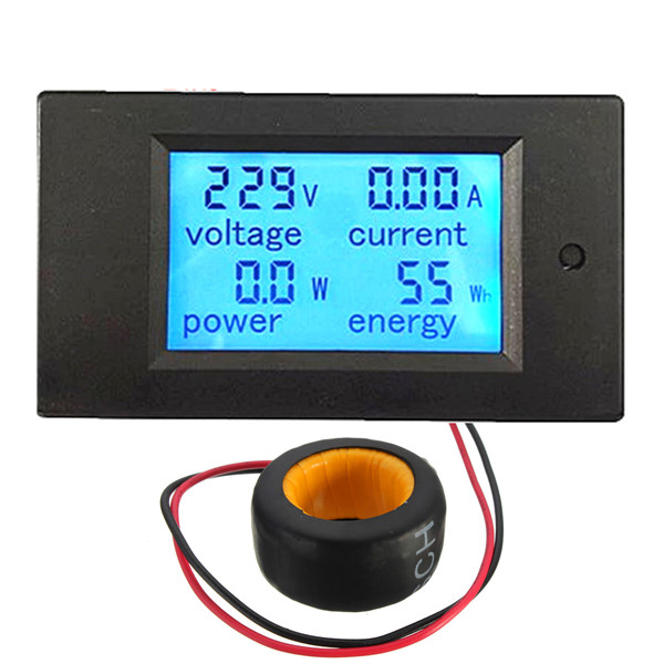 Lowest Price AC 100A Digital LED Power Panel Meter Monitor Power Energy Voltmeter Ammeter(China (Mainland))