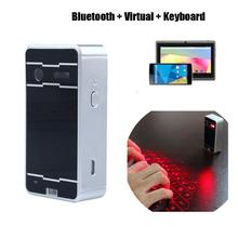 Black Wireless Bluetooth Virtual Laser Keyboard For Mobile Phone iPhone iPad PC Laptop Tablet(China (Mainland))