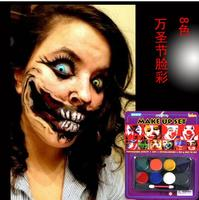 IMAGIC 8 Colors Flash Tattoo Face Body Paint Oil Painting Art Halloween Party Fancy Dress Beauty Makeup Tools Easy to be washed