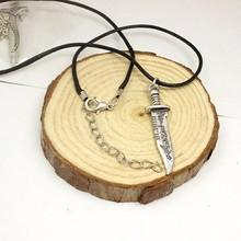Hot Wholesale Movie Supernatural silver color dagger pendant necklace vintage knife chain men women necklace jewelry gift