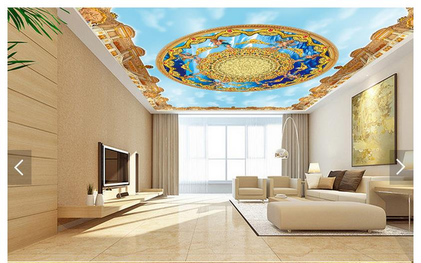 Online get cheap blue sky angel alibaba for Ash wallpaper mural