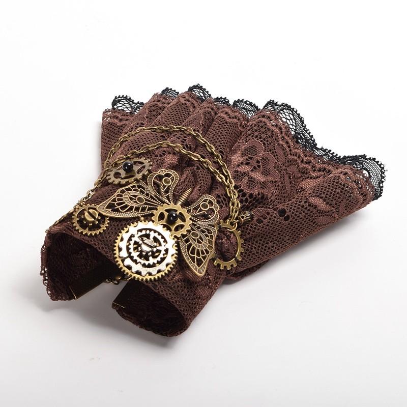 1pc Girls Steampunk Bracelet Gears Butterfly