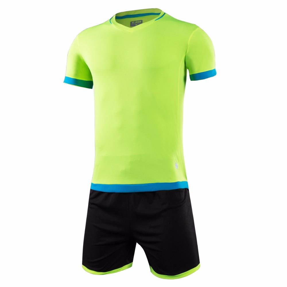 New Mens Football Jerseys Short Sleeve Soccer Sets Football Training Jerseys Sports Kits Breathable Jerseys Suit Uniforms Kits(China (Mainland))