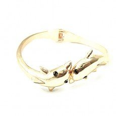 S052 Europe and the United States environmental protection classical dolphin open bracelet Free shipping