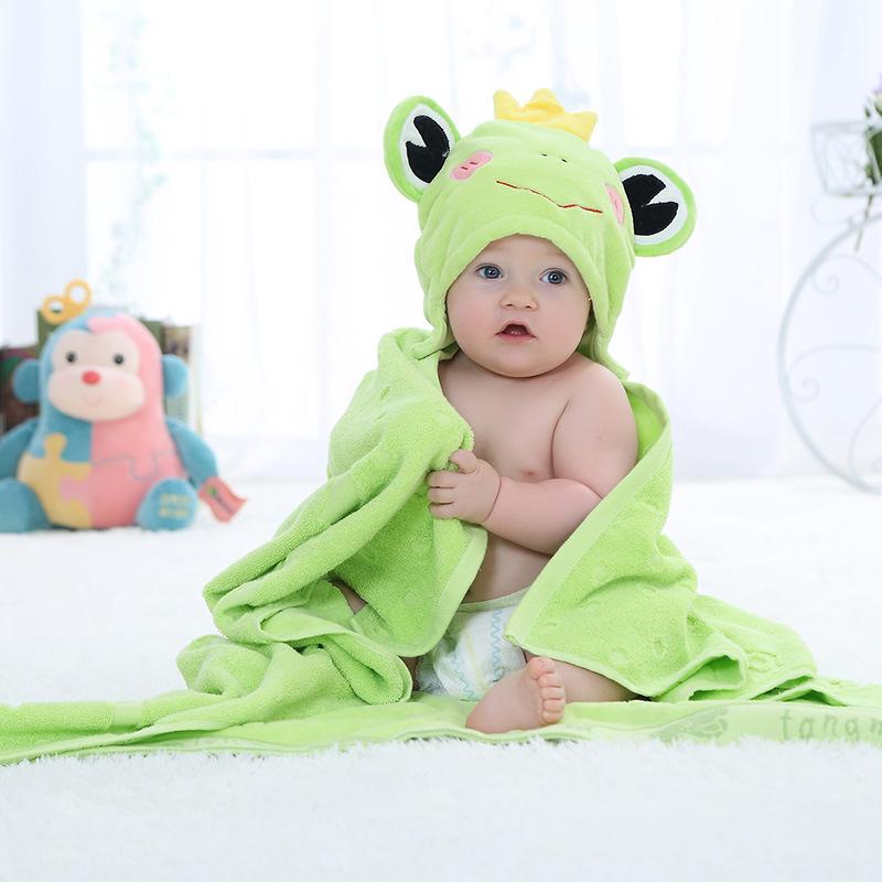 Cute Animal Cotton Cartoon Baby Kid's Hooded Bath Towel Toddler Blankets/baby bathrobe/infant beach towels 100X100cm