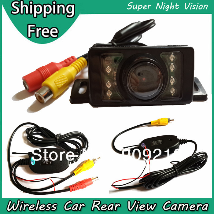 Wireless Rear View Camera for Reversing Backup Car with 120 Degree Wide Angle Lens , Super Good Night Vision , Waterproof Lens(China (Mainland))