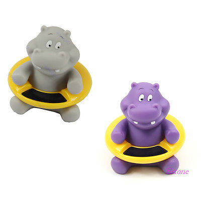 A96 Free Shipping Cute Hippo Shape Baby Infant Bath Tub Thermometer Water Temperature Tester Toy(China (Mainland))