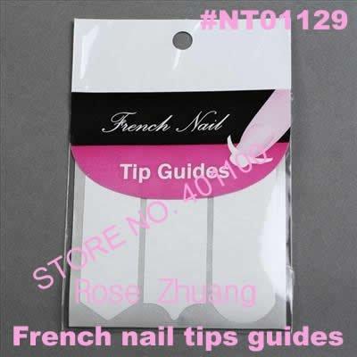 Makartt Freeshipping-100 Sheets Nail Art French Tip Guides Sticker C, Y, V 3 Style Guides Sticker DIY Stencil Hot SKU:B0026XX