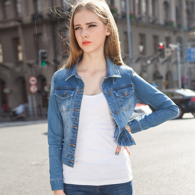 2015 Spring & Autumn Women Long Sleeve Vintage Blue Jean ...