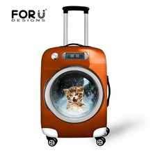 Stylish Animal Protective Case Waterproof Luggage Cover for Travel 18-30 inch Trolley Suitcase Elastic Dust Rain Cute Cat Cover(China (Mainland))
