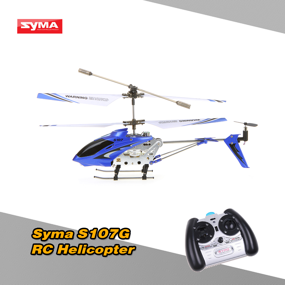 New Syma S107G Mini 3 CH Infrared R/C Helicopter with Gyro RC Toys For Kids Childrens Blue/Red/Yellow(China (Mainland))