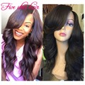 Unprocessed 8A Grade Full Lace Brazilian Virgin Wigs with Baby hair Glueless 4x4 Silk Top Lace