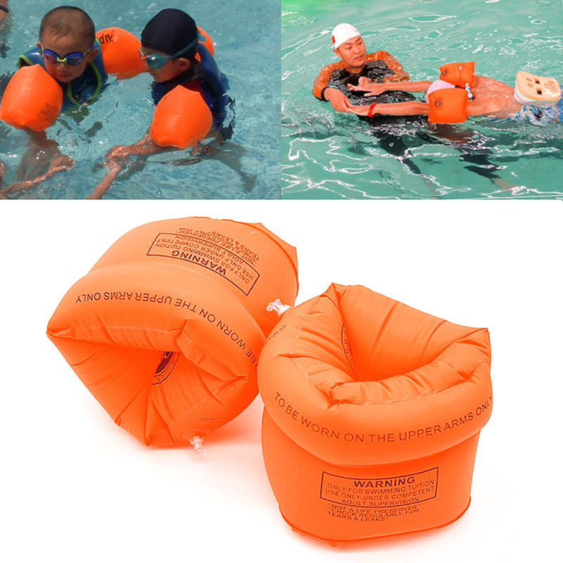 One Pair Swimming Arm Band Ring Floating Inflatable Sleeves For Adult Child(China (Mainland))