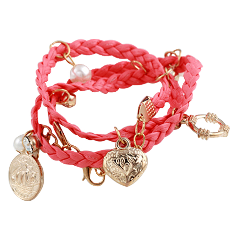 European and American Fashion Charm Product , Head portrait Pendant ,Six-color Alloy cool Leather Bracelets Hot sale(China (Mainland))