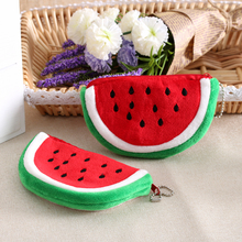 1 Pcs Sweet Summer Women Girls Watermelon Zipper Coin Bag Wallet Purse Mini bag Key Bag Cosmetic Purse Small Money Bags(China (Mainland))
