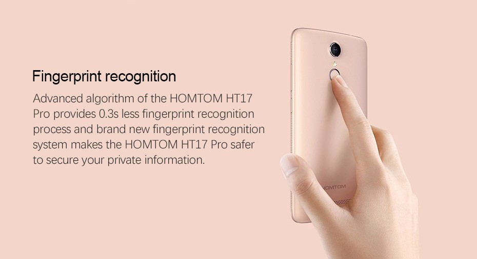 Original Mobile Phones Homtom HT17/HT17 PRO Smartphone 4G LTE Cellphone Android 6.0 phones Quad Core 1.3GHz 5.5 inch HD