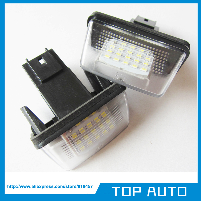 18SMD LED License Number Plate Light Peugeot 206 207 306 307 406 407 308 5008 Citroen C3 II PICASSO C4 PICAS - TOP AUTO store