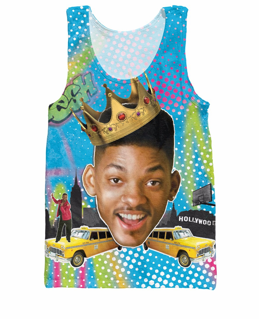 Unisex Women Men 3d Shirt So Fresh Will Smith Tank Top the Fresh Prince of Bel Air Summer Style Running Jersey Vest tee(China (Mainland))