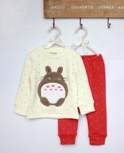 Baby Boys Girls Little Mouse Winter Warm Thicken Pajamas Kids Cartoon Sleep Night wear Children Toddler Sleep suit 775(China (Mainland))