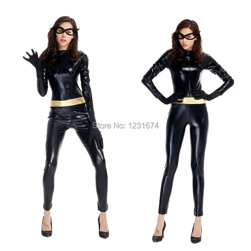 2 tailles femme pu masqu cuir super h ros heroine sci fi cos combinaison jeu halloween de - Liste de super heros femme ...
