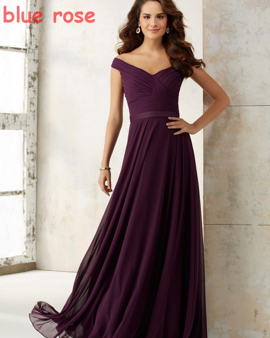 Cap Рукавом Простой Boho Фиолетовый Платья для Подружек Невесты Платье Партии Длинные Вечерние Платья vestidos de madrinha