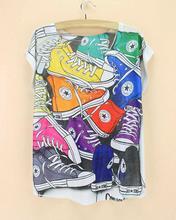 Various printed designs short sleeve tee shirts