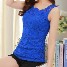 Women Vest Blouse Tank Top Sleeveless T Shirt Solid color Lace Floral Plus Size Sexy tops Casual Vest tops women's tanks F006(China (Mainland))