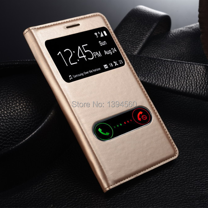 Original View Window Flip PU Leather Back Cover Battery Housing Case for Samsung Galaxy S3 SIII i9300 9300 Mobile Phone Cases(China (Mainland))
