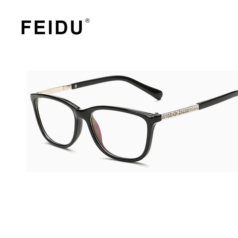 Glasses Frame Fashion 2016 : FEIDU 2016 Lightweight Fashion Square Glasses Frame Women ...