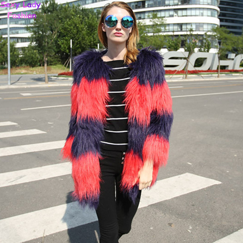 Compare Prices on Red Shaggy Jacket- Online Shopping/Buy Low Price