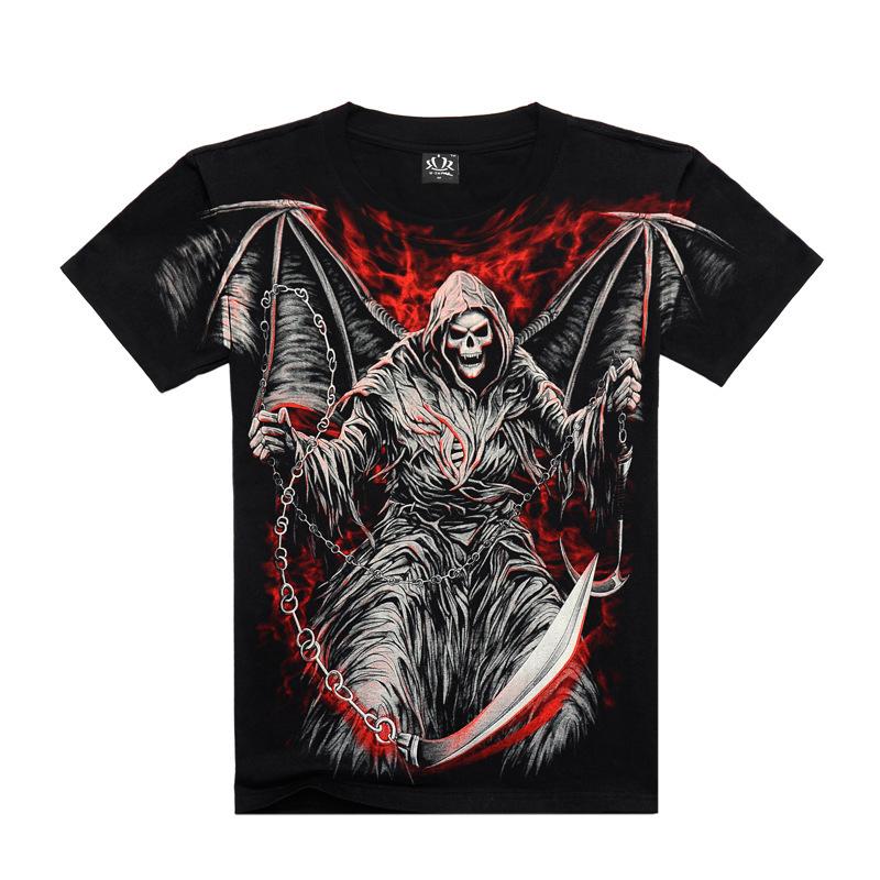 High Quality M-XXXL New Fashion Cotton Brand T Shirt Men 3D Tshirt Clothes Skull Animal Causul T-Shirts Camisetas MasculinasОдежда и ак�е��уары<br><br><br>Aliexpress