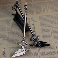 Buy Hot Online Game League New Legends LOL keychain Fashion 17cm Alloy Key Ring Raven's Weapon Jewelry Men Jewelry Kids Gifts for $3.30 in AliExpress store