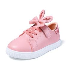 KRIATIV 2019 קיץ ארנב אוזן נעלי בנות Tenis Chaussure Enfant ילדים סניקרס ילדה ורוד נעליים יומיומיות חמוד(China)