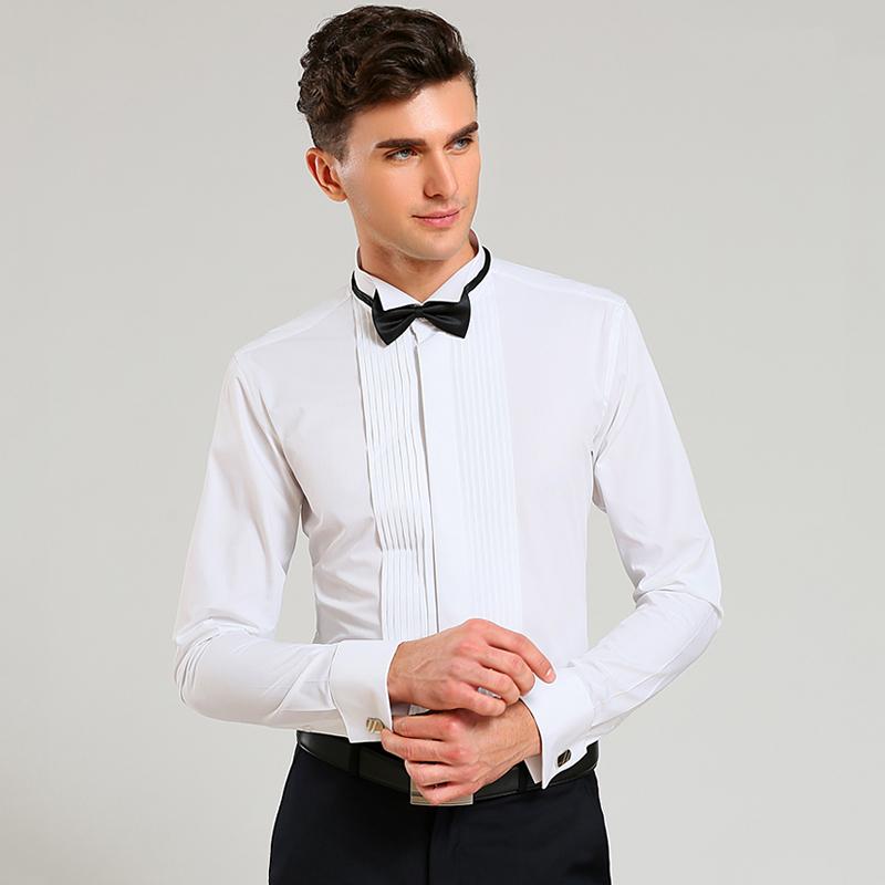 New french cuff men dress shirts long sleeve men 39 s tuxedo for Mens french cuff shirts