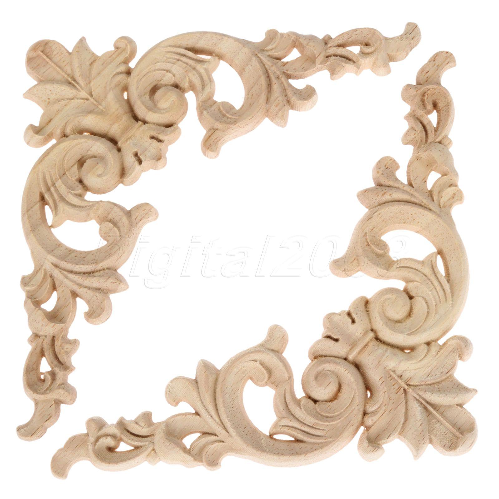 Online get cheap wood framing brackets for Applique furniture decoration