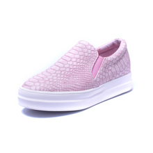 2016 Spring Autumn Casual Soft Flats Shoes Women Pink Black Round Toe Ladies Slip On Moccasins Driving Pregnant Loafers Creepers(China (Mainland))