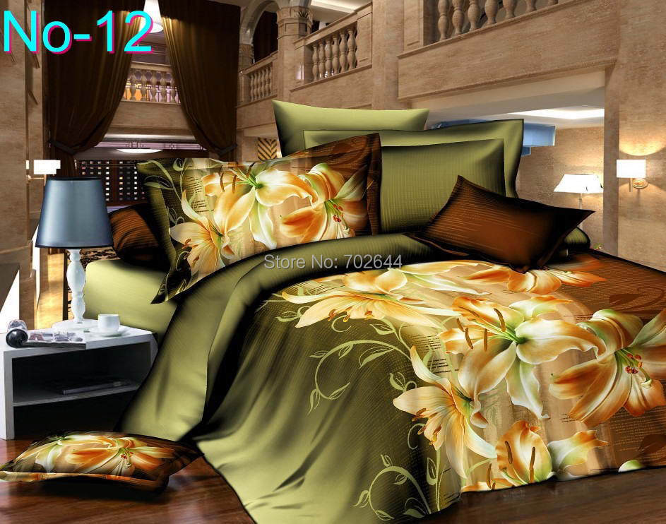 HOT 3D Quilt Cover Bed Linen Bed Set Brand king size Duvet Cover Sheet Pillowcase Bedclothes/Bed Linens(China (Mainland))