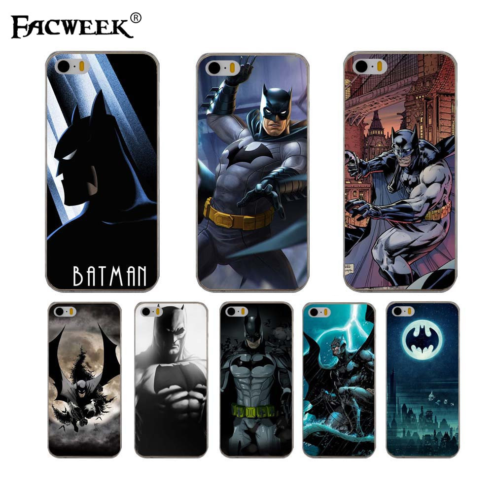For iPhone 5 5S Phone Cases Marvel Comic Dark Hero Batman Case Cover For Apple iPhone 5 SE Printed Bat man Soft Shell Back Cover(China (Mainland))