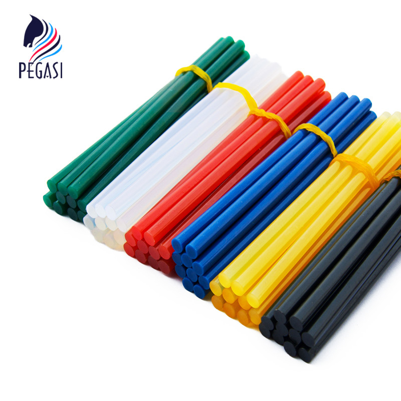 PEGASI 10pcs/lot 7mm*150mm Hot Melt Glue Sticks For Glue Gun Craft Phone Case Album Repair Accessories Adhesive Stick Color