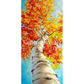 High Quality Abstract Hand Painted tree Fall Poplar Unique Modern Abstract Oil Painting Canvas Wall Living