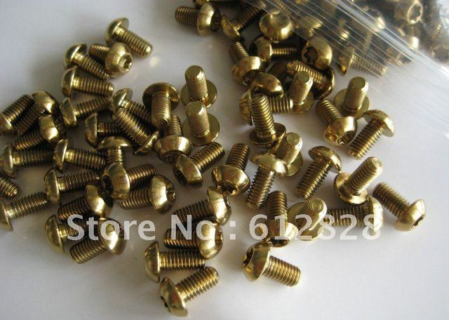12 x Disc Brake Rotor Gold Bolts Ti Titanium Bicycle Screws Bike Parts
