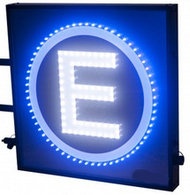 "Waterproof customer made double side LED ""E"" sign /Outdoor led sign with print  /led advertising panel(China (Mainland))"