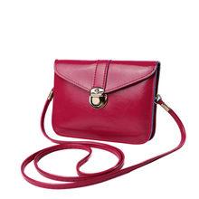 Wanita Kulit Tas Tangan Mini Kartu Koin Tas Ponsel Fashion Kecil Perubahan Dompet Wanita Gesper Selempang Bahu PU Bag2.9(China)