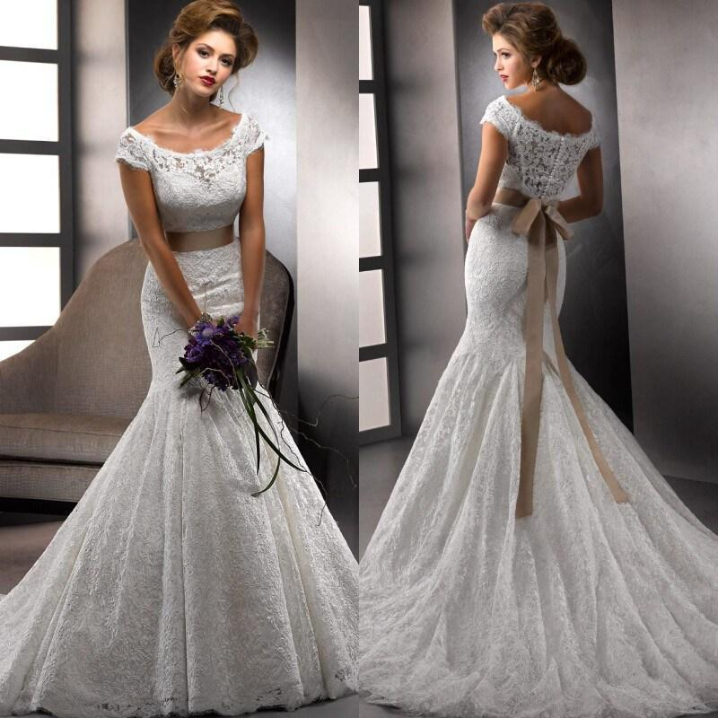2015 vestido novias vintage ivory lace alibaba wedding for Ivory wedding dress sash