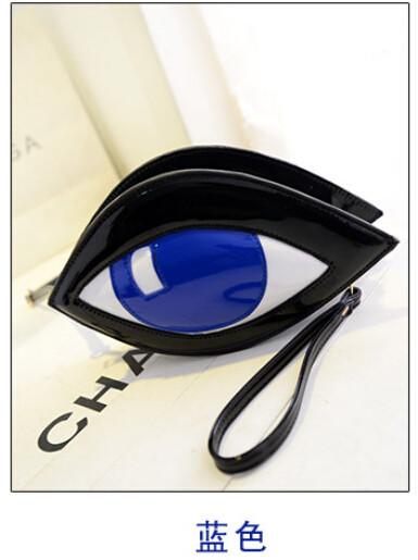 2015 Fashion Designer Women PU Leather Day Clutch Women's Novelty Eye Print Purse Key Wallet Leadies Evening Party Handbag Bags(China (Mainland))
