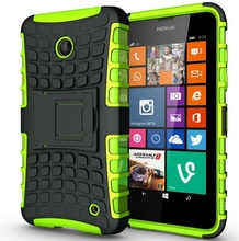 Для Nokia Lumia 630 635 640 чехол тяжелых броня подставка гибридный жесткий чехол композитный тпу противоударный