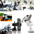 Black White Univeral 360 dergee adjusted Car Windshield Mount Holder For iPhone For XIaomi Smartphone
