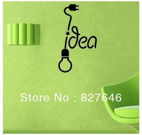 Light Bulb Idea Wall Sticker Kid Room Decor Mural Art Vinyl Wallpaper Home Window Glass Decoration Decal - MUMU sticker store